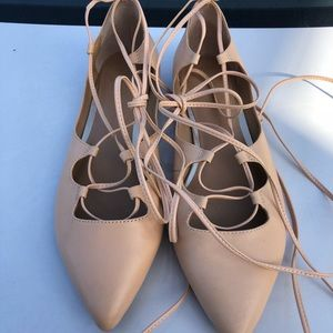 Banana Republic ALLIE Lace Up Ballet Flats Tie